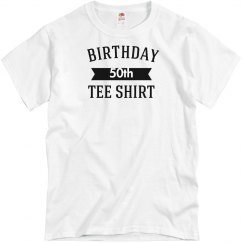 Birthday tee shirt