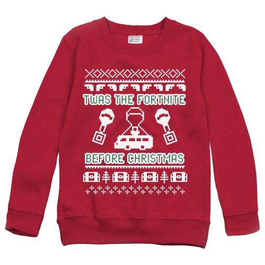 Custom Kids Fortnite Before Xmas Ugly Sweater