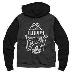 Cute Happy Camper Bonfire Camping Hoodie