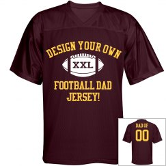 Proud Football Dad Custom Jersey With Son's Number!