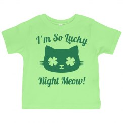 So Lucky St Pattys Kid Cat Puns