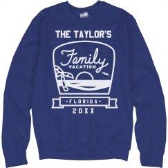 Custom Beach Family Vacation Sweatshirt