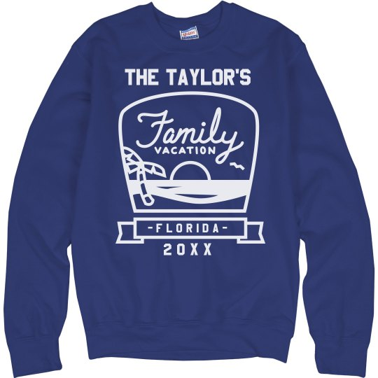a6f7e3472 Custom Beach Family Vacation Sweatshirt Unisex Ultimate Cotton Crewneck  Sweatshirt