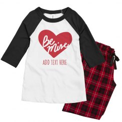 Be Mine Custom Valentine's Kids Pajamas