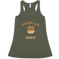 Trendy As Good As Gold Metallic