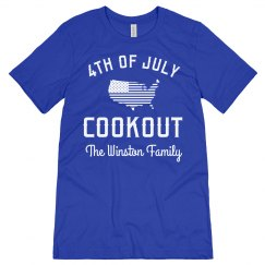 Custom 4th Of July Family Cookout