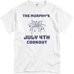 Fourth Of July Cookout Group Shirts