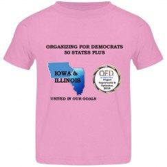 OFD Iowa & Illinois TODDLER Pink