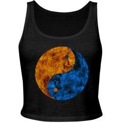 Blue Orange Fire Yin Yang
