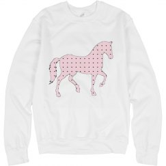 Pink Polka Dot Pony Sweatshirt