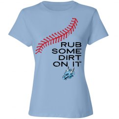 #13-Ladies Relaxed Fit.Tee-Port&Co.Brand-Rub Dirt