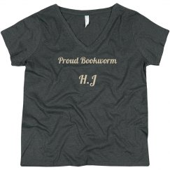 "PLUS-Size - ""Proud Bookworm"" Tee"