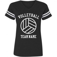 Sporty Volleyball Team V-Neck