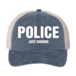 POLICE Just Kidding Costume Hat