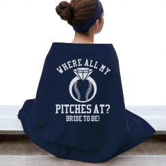 Baseball Bachelorette Party Blanket for the Bride to Be