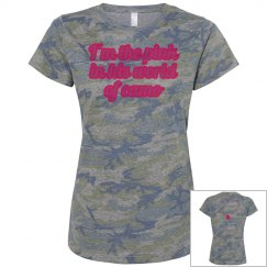 pink in camo world green