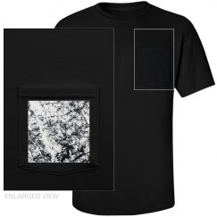 Men's marble pocket tee