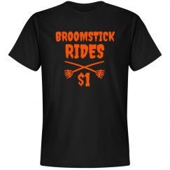 Broomstick Rides Halloween Tshirt for Men