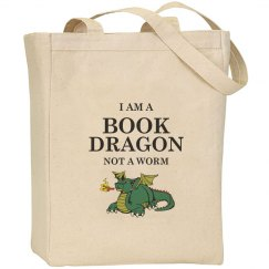Book Dragon tote