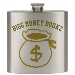 Bigg money Bookz design 3 flask