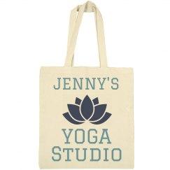 Custom Yoga Studio Tote Bag