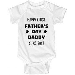 Custom Happy 1st Father's Day Daddy