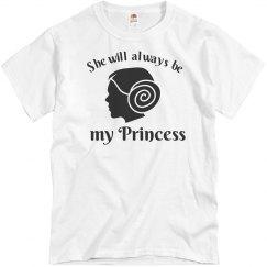 She Will Always Be My Princess Men's T-Shirt