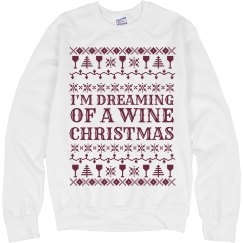 Ugly Sweater Wine Christmas