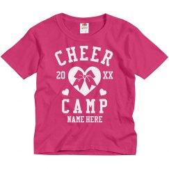 Create Custom Cheer Camp T-Shirts