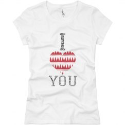 Women's V-Day Shirt- I Love You