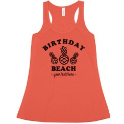 Custom Birthday Beach