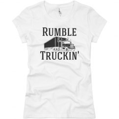 Rumble Truckin' Junior Fit Basic District Fine Jersey
