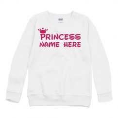 Custom Princess Name W/Crown