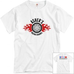 Asher's Racing Channel new logo t-shirt