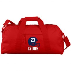 Personalized sports duffle