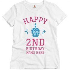 Custom Name 2nd Birthday Tee