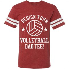 Custom Volleyball Dad Tee