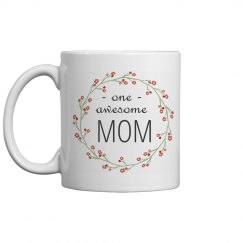 Floral Awesome Mom Mug