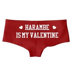Harambe Is My Valentine Panties