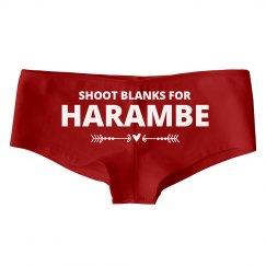 Shoot Blanks For Harambe Panties