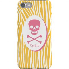 Zebra Skull iPhone Case