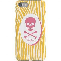 Zebra Skull iPhone Case