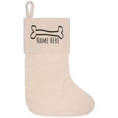 Custom Family Pet Christmas Sock