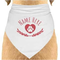 Custom Dog Name Neck Scarf