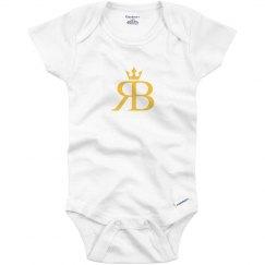 Red Bottoms Baby Onesie-Yellow Logo