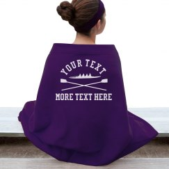 Custom Crew Team Rowing Blanket
