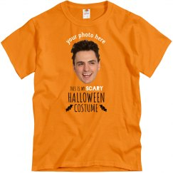 Your Face Cut-Out Scary Halloween Costume Tee