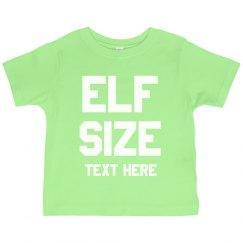 Elf Size Custom Text Toddler