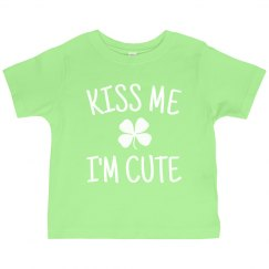 Kiss Me I'm Cute For St. Patrick's