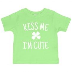Kiss Me I'm Cute For St. Patrick's